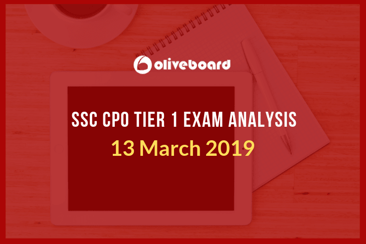 SSc CPO Tier 1 Exam analysis 13 march