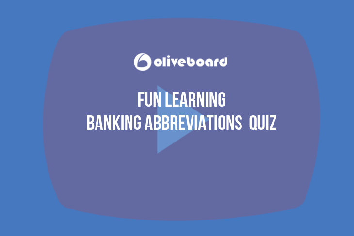 Banking Abbreviations quizzes