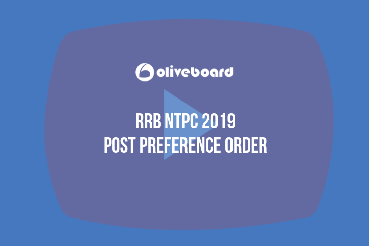 RRB NTPC Post Preference 2019