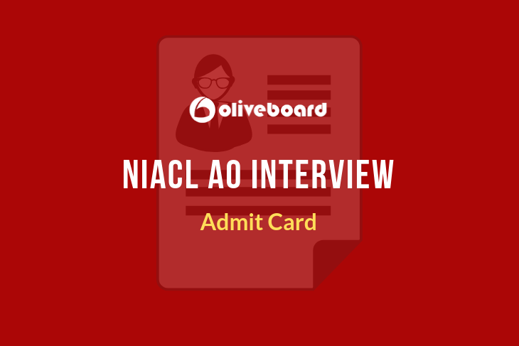 niacl ao interview admit card
