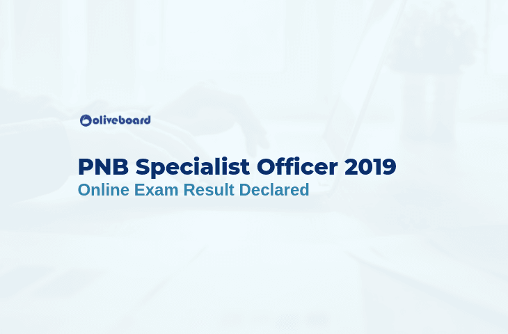 PNB Specialist Officer Exam Result 1