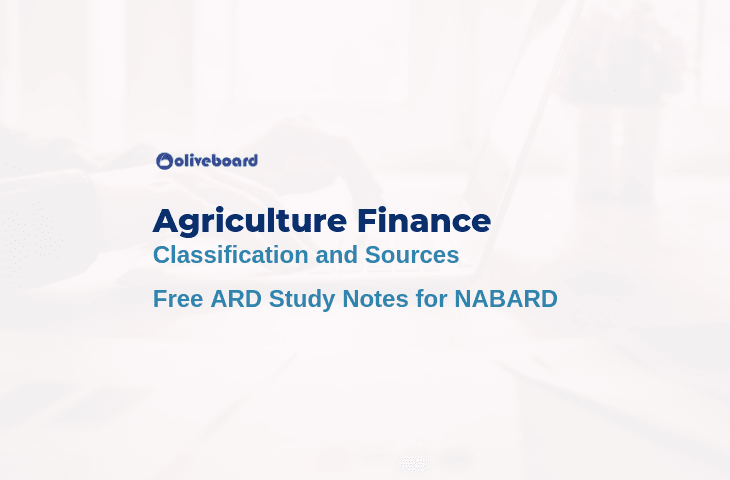 Agriculture Finance Notes