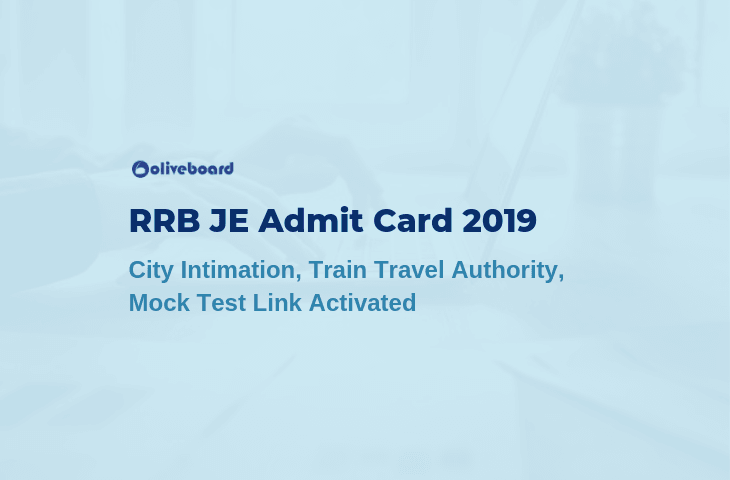 RRB JE Admit Card 2019