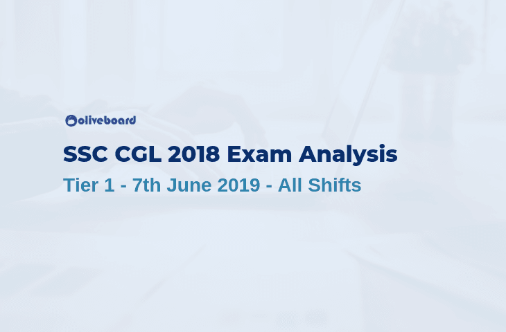 SSC CGL 2018 Tier 1 Exam Analysis - 7 June 2019