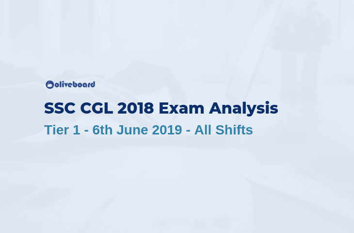 SSC CGL 2018 Tier 1 Exam Analysis - 6 June 2019