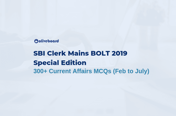 Current Affairs MCQ 2019 - SBI Clerk BOLT