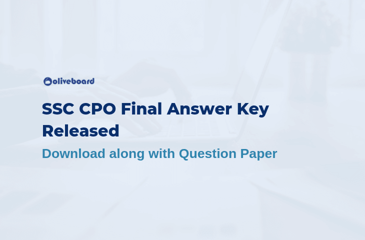 SSC CPO Final Answer Key