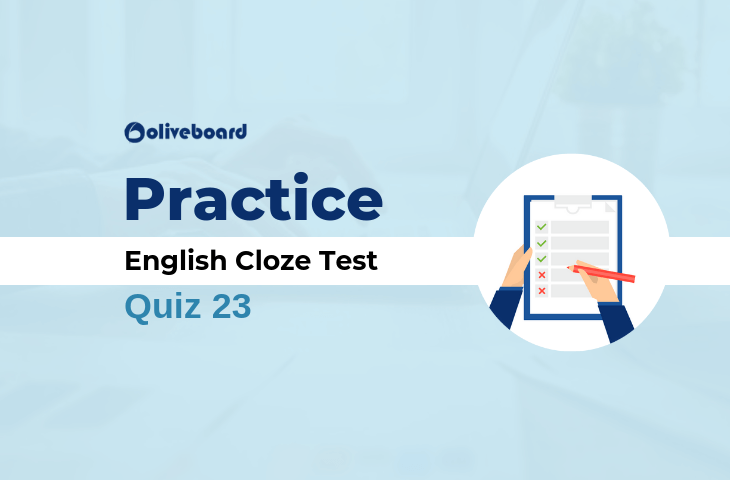 Banking English Questions Cloze Test