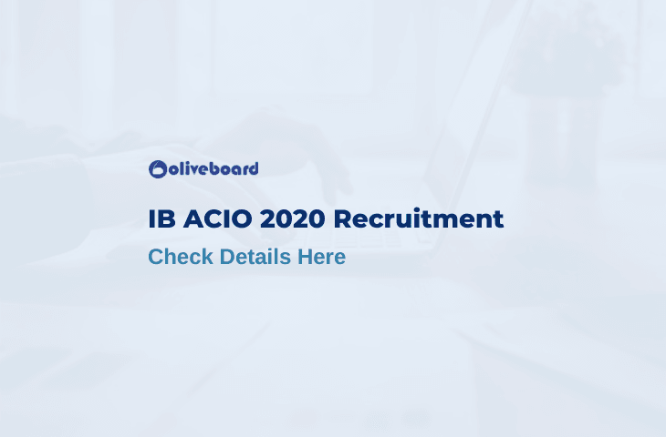 IB ACIO Recruitment 2020