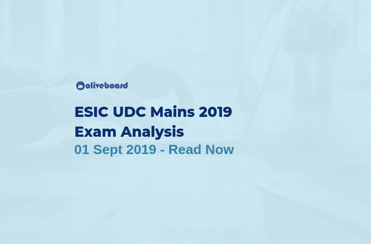 ESIC UDC Main Exam Analysis 2019