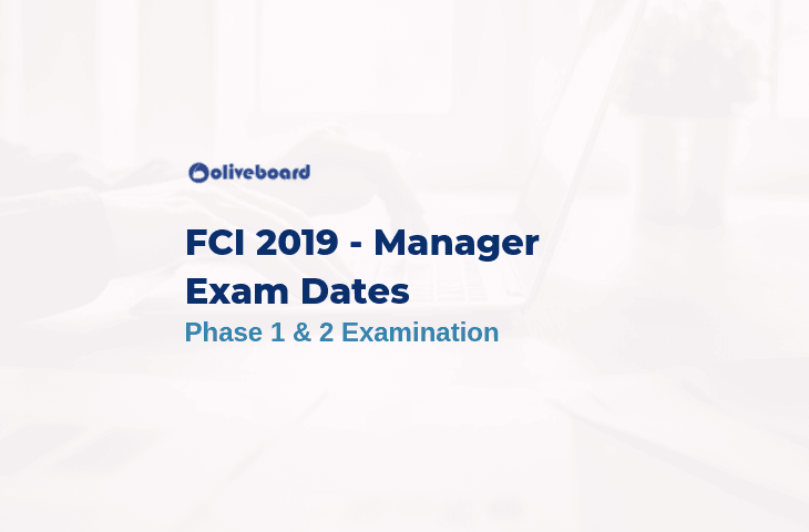 FCI Manager 2019 Exam Date