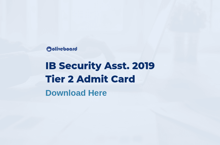 IB Security Assistant Tier 2 Admit card