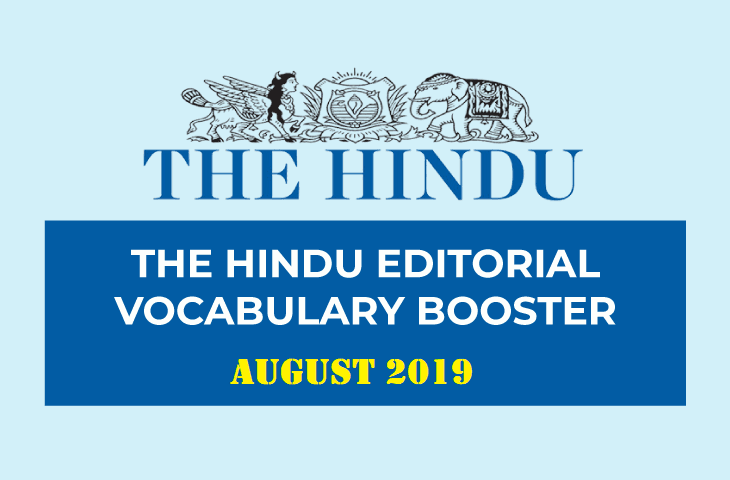 Vocabulary Booster August 2019
