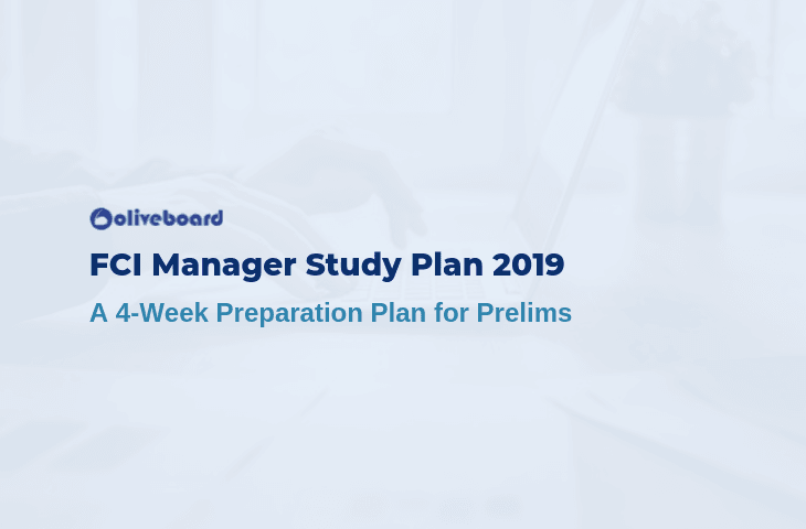 FCI Manager Study Plan
