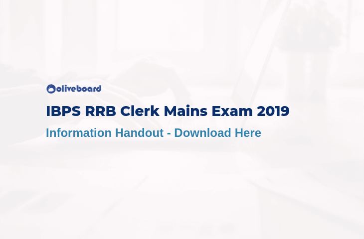 IBPS RRB Clerk Main Information Handout
