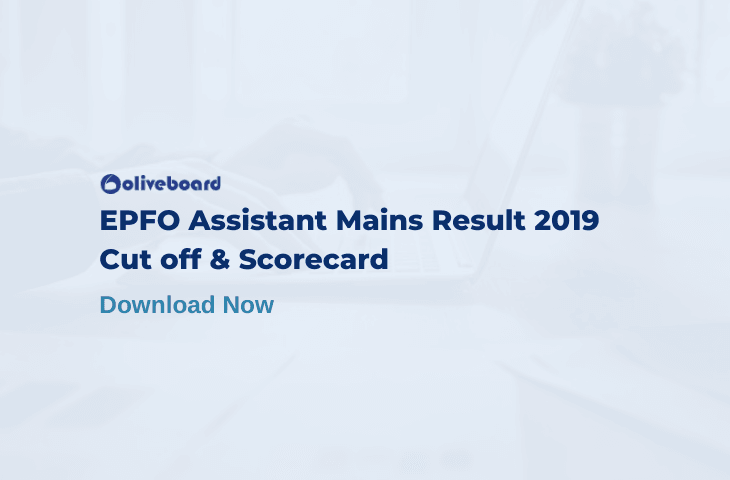 EPFO Assistant 2019 mains result