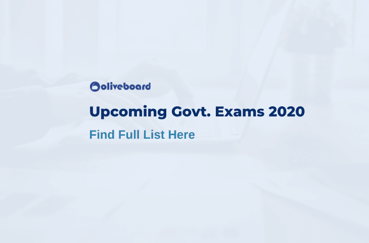 Upcoming Government Exams