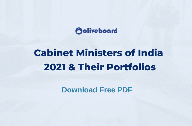 Cabinet Ministers of India 2021