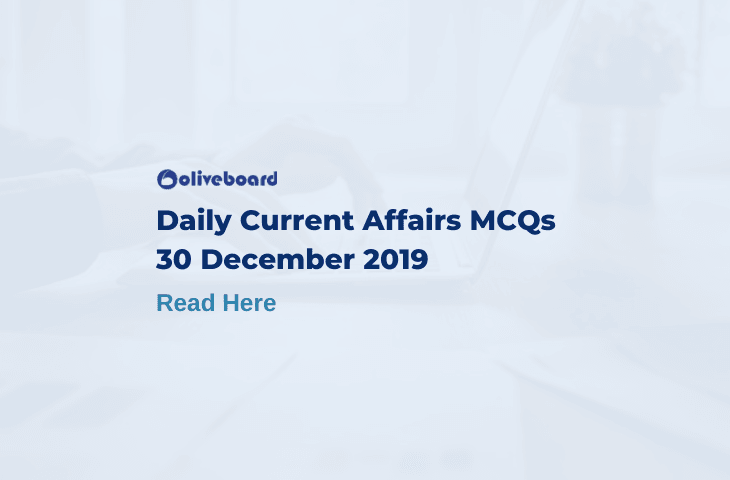 Daily Current Affairs MCQ 30 December 2019