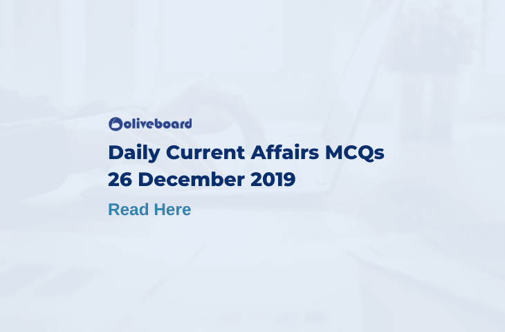 Daily Current Affairs MCQ 26 December 2019