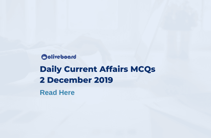 Daily Current Affairs MCQ 2 December 2019