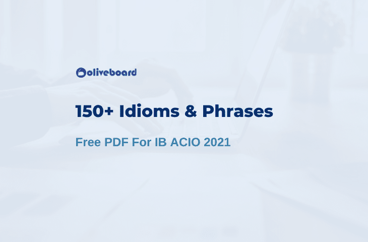 150+ Must Know Idioms