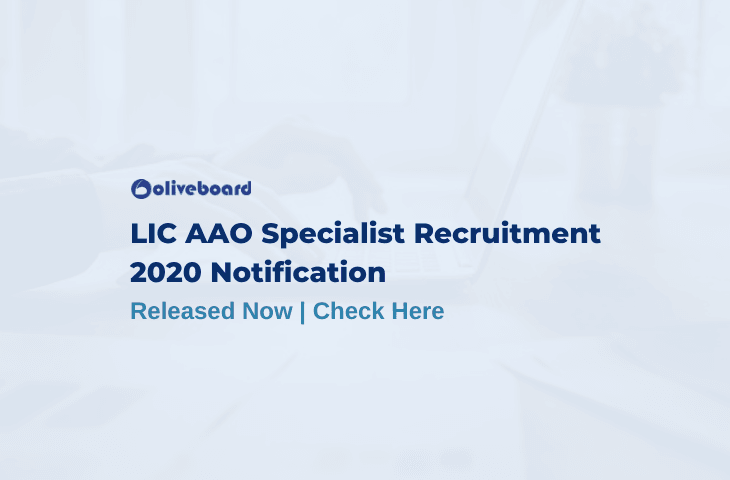 LIC AAO Specialist recruitment 2020