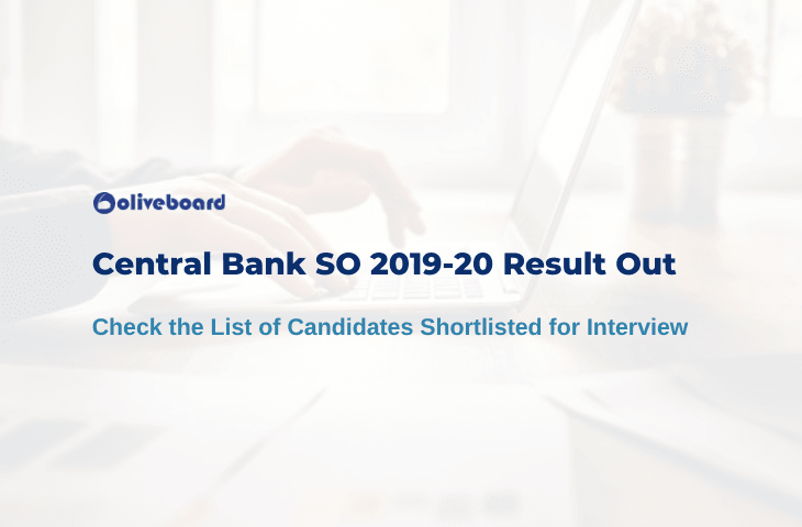 Central Bank of India SO Result 2020