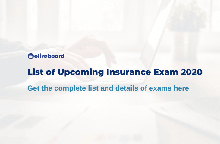 Upcoming Insurance Exams 2020