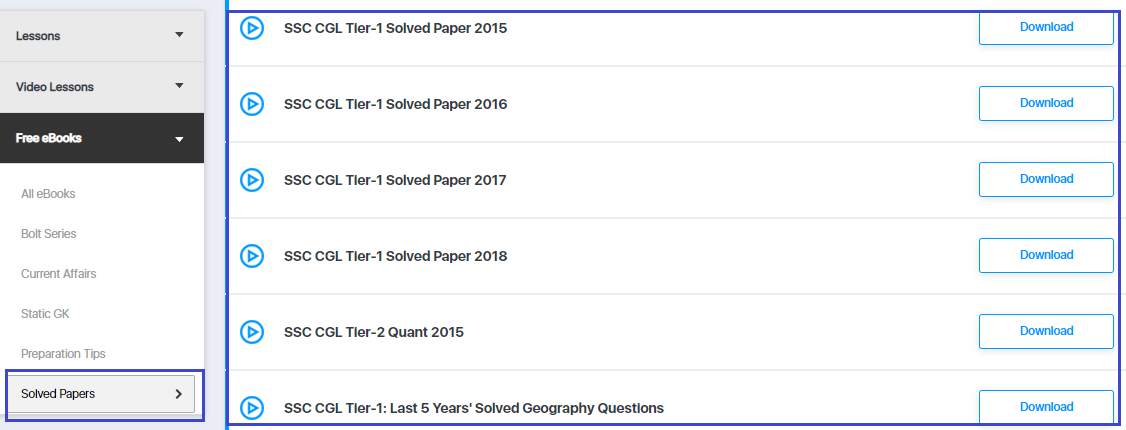 SSC CGL Solved Question Paper