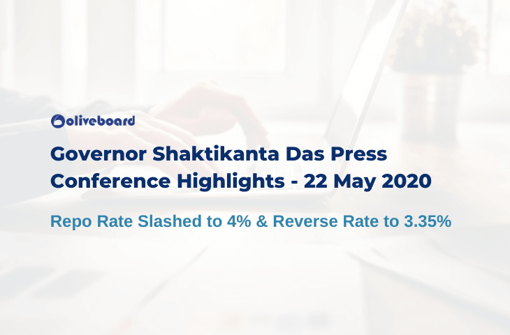 Governor Shaktikanta Das Press Conference Highlights - 22 May 2020
