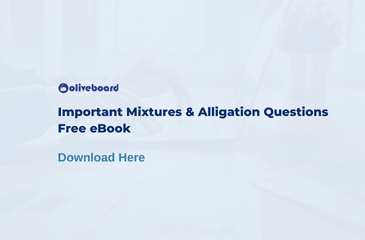 Mixtures and Alligation Questions