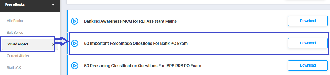 Percentage Questions For Bank PO