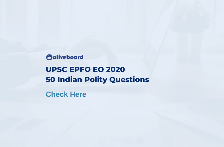 UPSC EPFO EO Indian Polity Questions