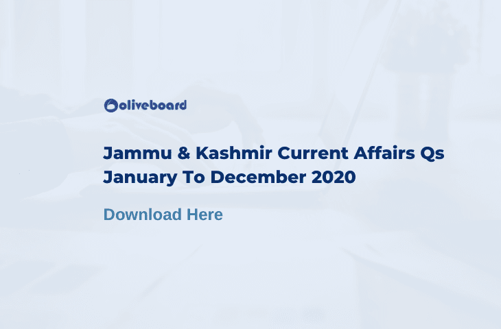 Jammu And Kashmir Current Affairs