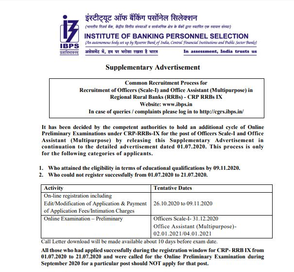 ibps rrb po clerk registration reopened