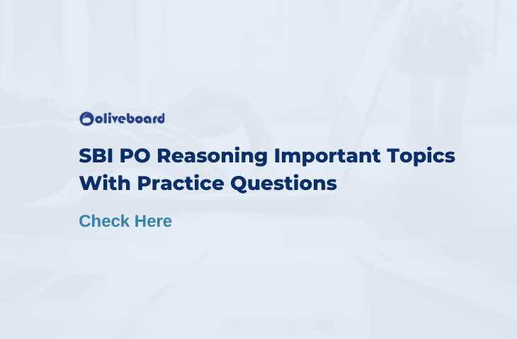 SBI PO Reasoning