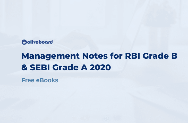 Management Notes for Rbi Grade B