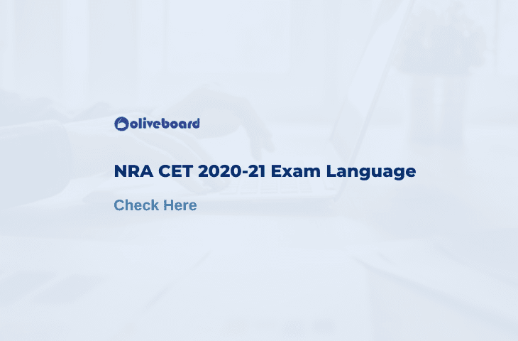 NRA CET Exam Language