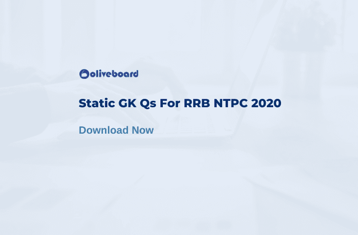 Static GK For RRB NTPC