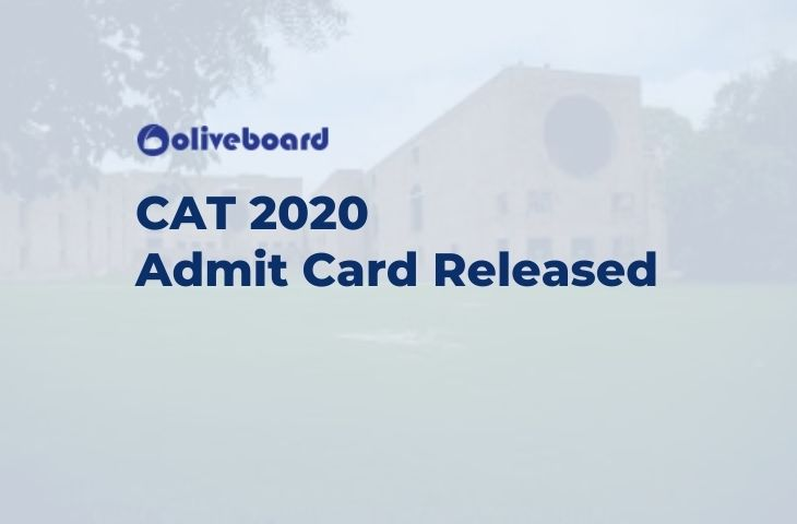 CAT 2020 Admit Card Released (1)
