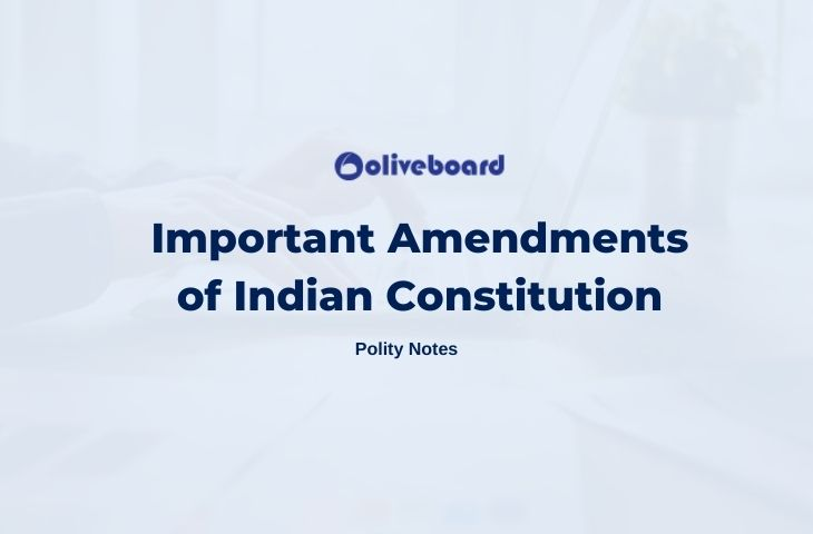 Important Amendments of Indian Constitution