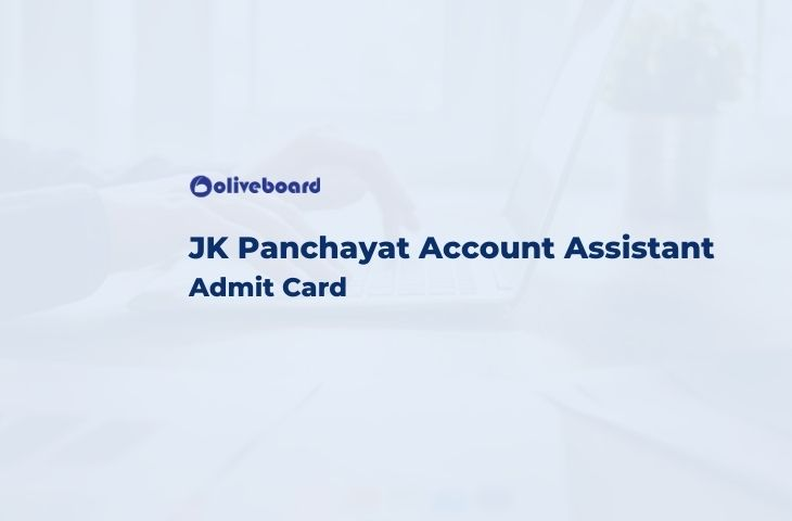 JK Panchayat Account Assistant Admit Card
