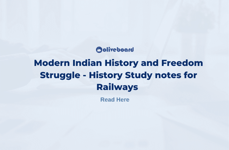 Modern Indian History for RRB