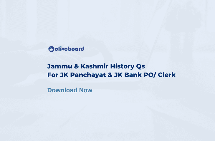 Jammu and Kashmir History Questions