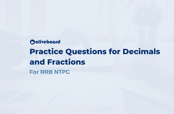decimal and fraction questions for rrb ntpc