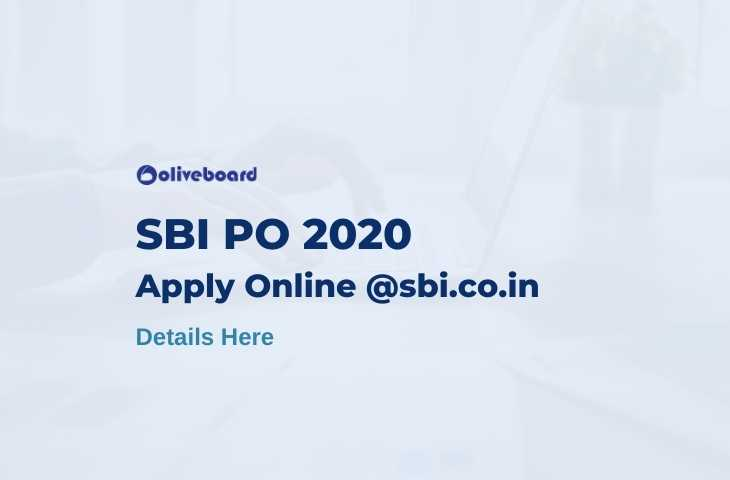 SBI PO Apply Online