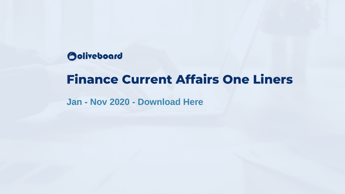 Finance Current Affairs
