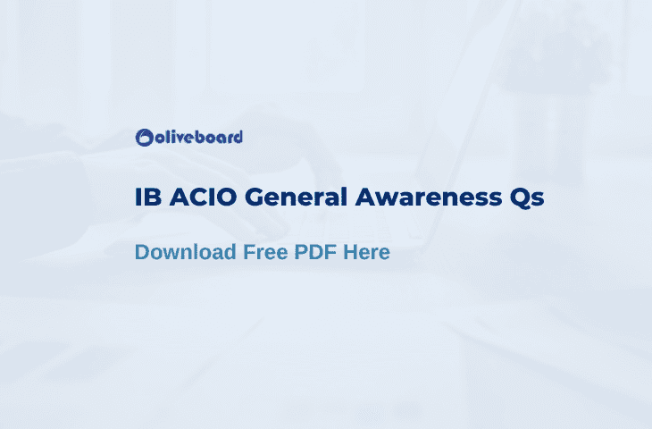 IB ACIO General Awareness PDF