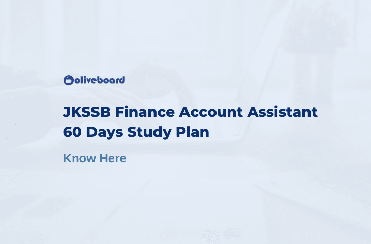 JKSSB Finance Account Assistant Study Plan